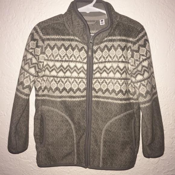 Uniqlo - NWOT grey Uniqlo fair isle fleece zip up jacket from ...